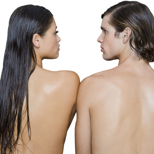 Naked young couple
